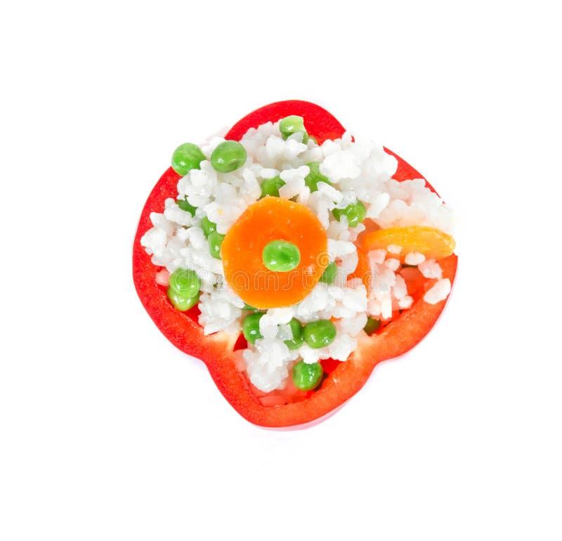 Garniture, nourriture saine de légumes images libres de droits