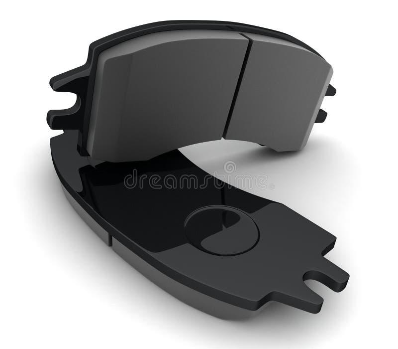 Garnitures de frein noires illustration libre de droits