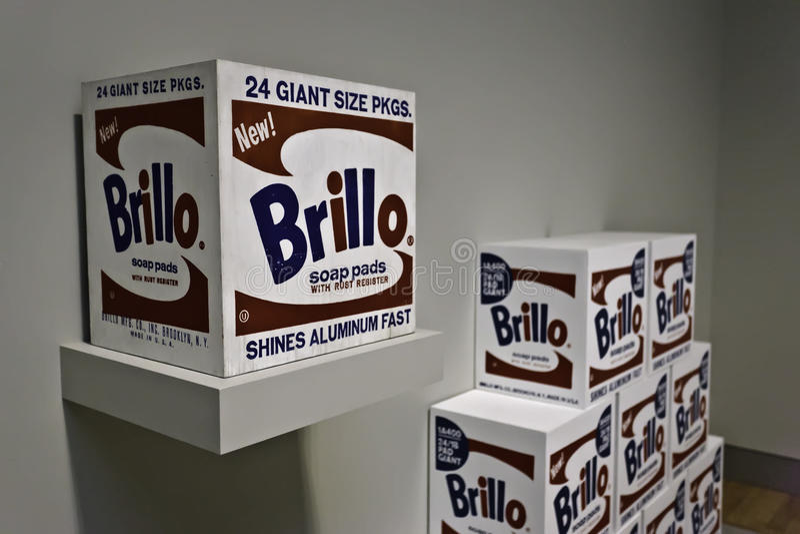 Garnitures de Warhol Brillo photographie stock libre de droits