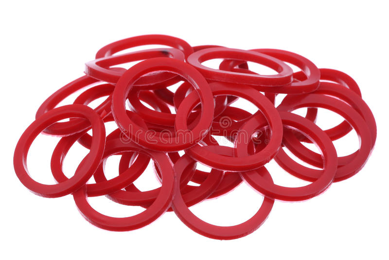 Garnitures rouges photo libre de droits