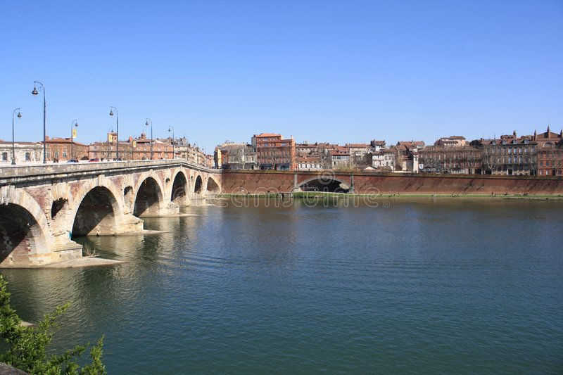 Download The Garonne in Toulouse. stock photo. Image of walk, lamp - 8726792