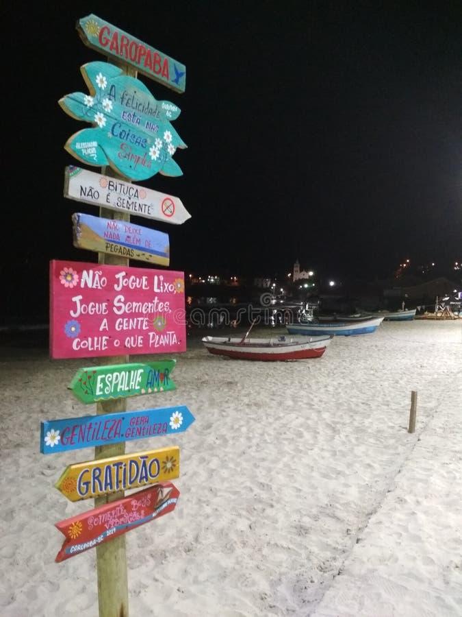 Garopaba海滩 库存照片