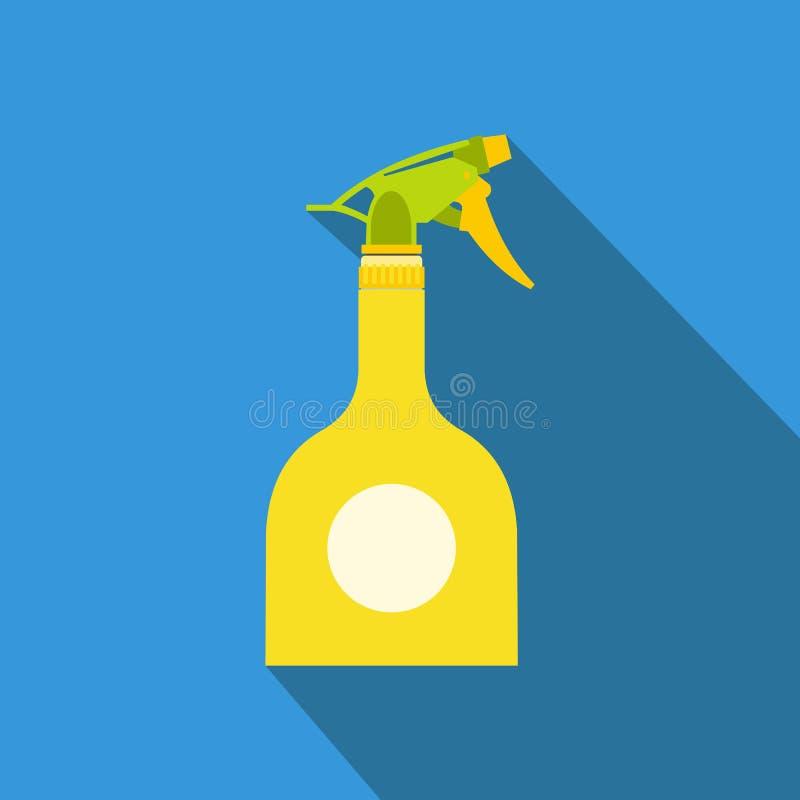 Garrafa amarela do pulverizador ilustração do vetor