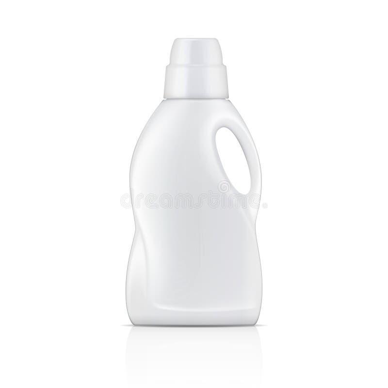 Garrafa branca para o detergente para a roupa líquido ilustração royalty free