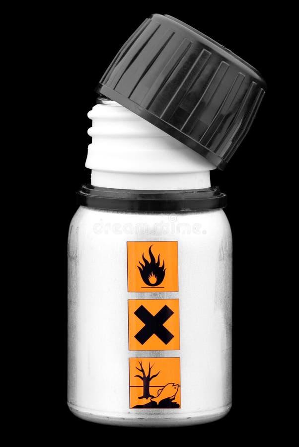 Garrafa com líquido perigoso. imagem de stock royalty free
