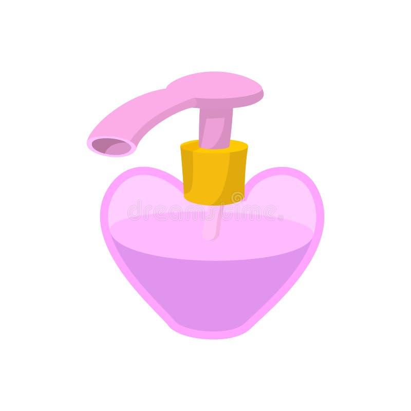 Garrafa cosmética para um creme, champô, ícone do óleo ilustração stock