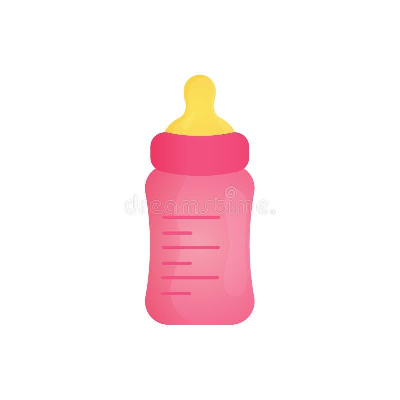Garrafa da alimentação do bebê com fórmula de bebê para uma alimentação do leite ilustração do vetor