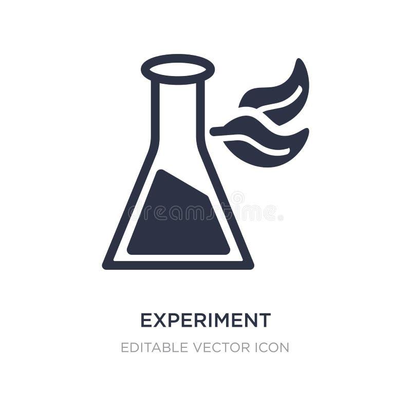 garrafa da experiência com ícone das folhas no fundo branco Ilustração simples do elemento do conceito da educação ilustração stock