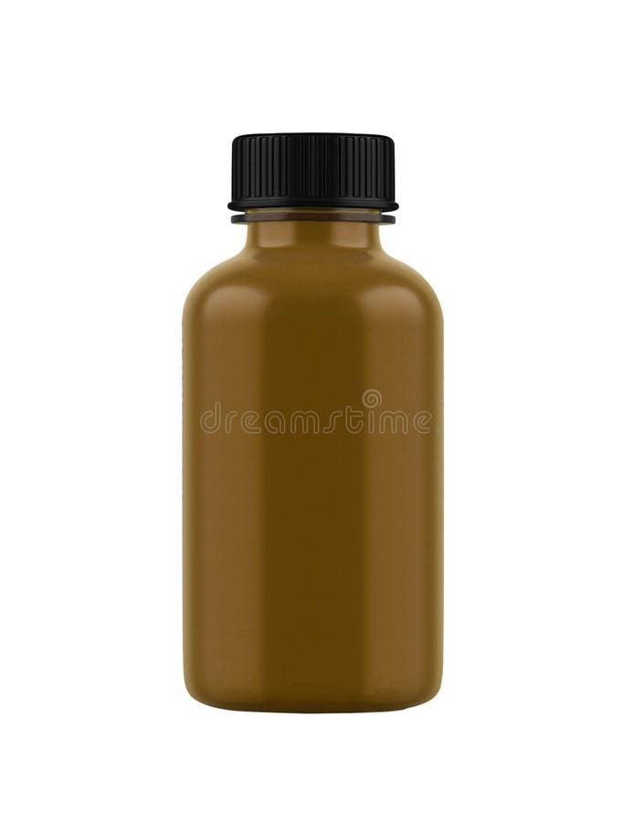 Garrafa da medicina do vidro marrom fotos de stock royalty free
