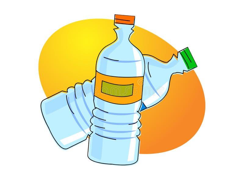 Garrafa de água ilustração stock