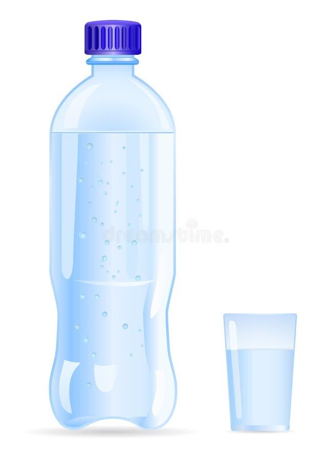 Garrafa de água ilustração royalty free