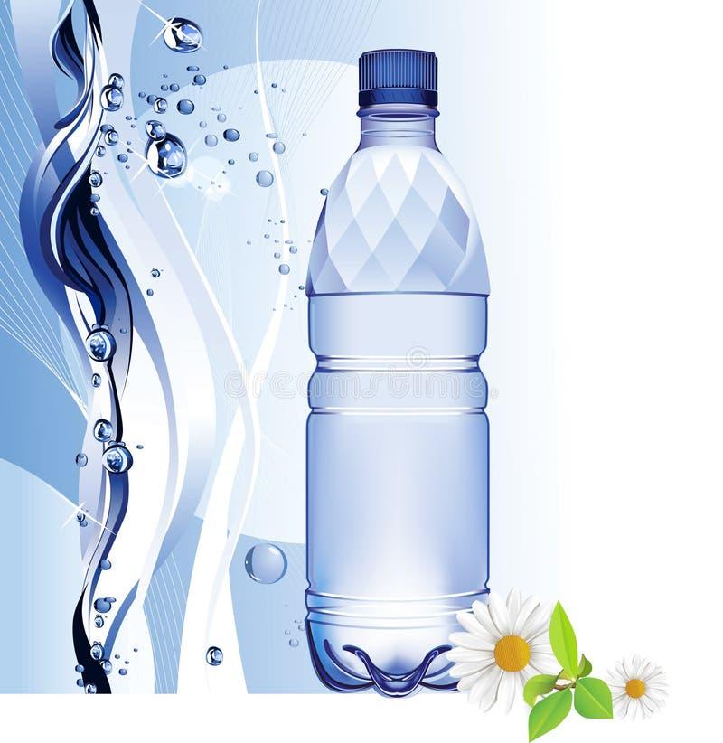 Garrafa de água. ilustração do vetor