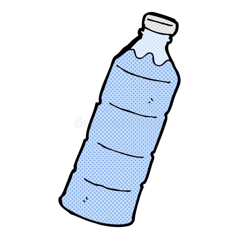 Garrafa De Agua Comica Dos Desenhos Animados Ilustracao Stock