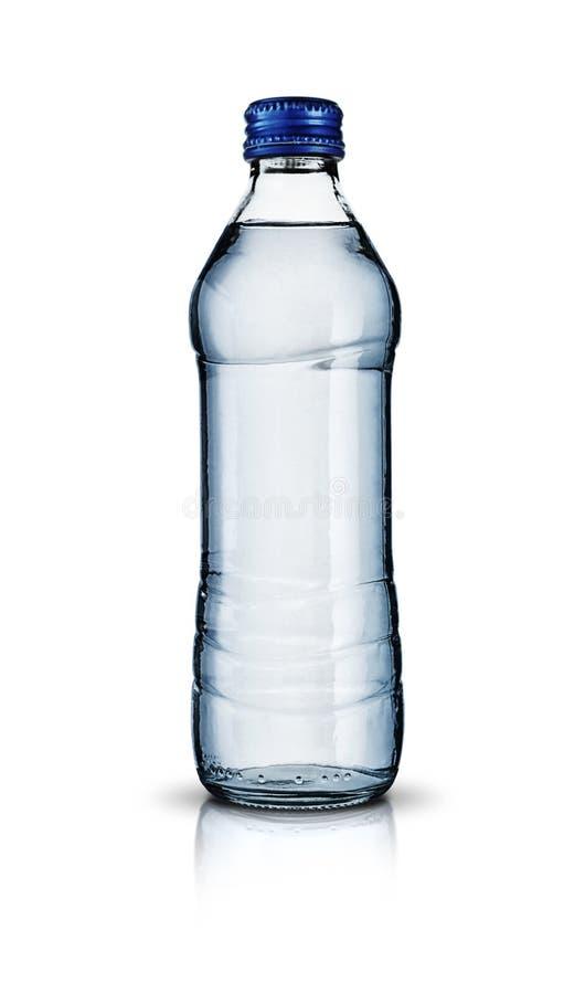 Garrafa de água de vidro imagem de stock