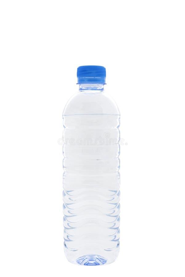 Garrafa de água no fundo branco imagens de stock