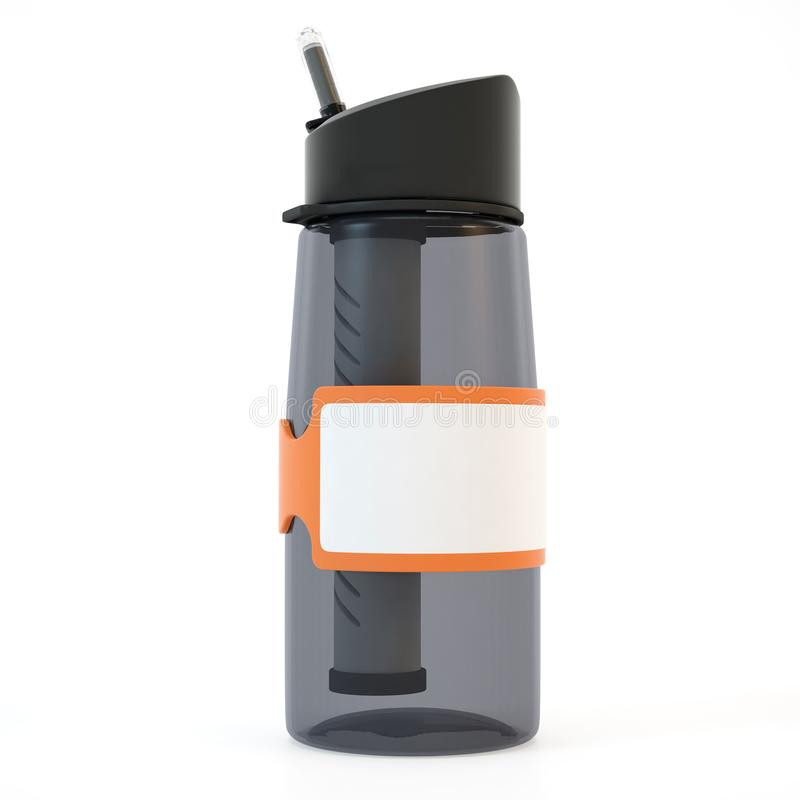 garrafa de água realística da rendição 3d ilustração do vetor