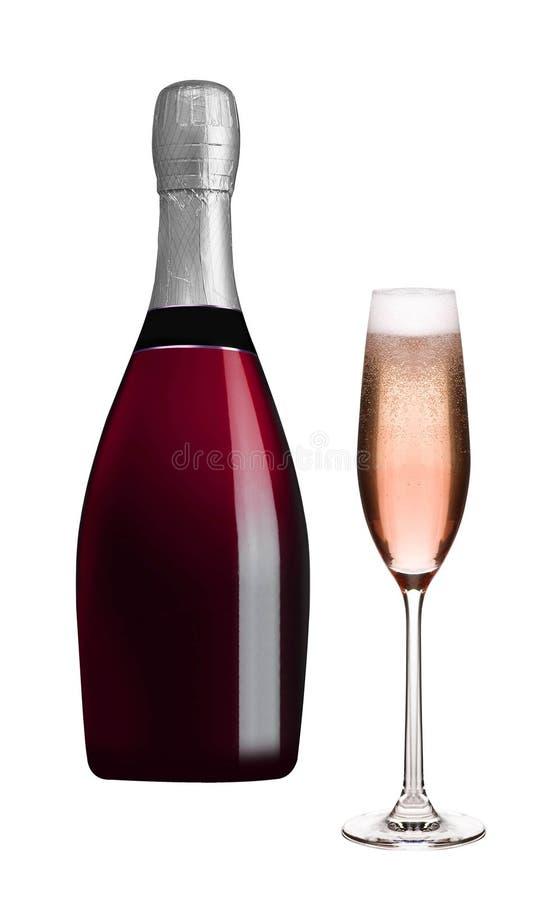 Garrafa de Champagne e vidro do champanhe imagem de stock royalty free