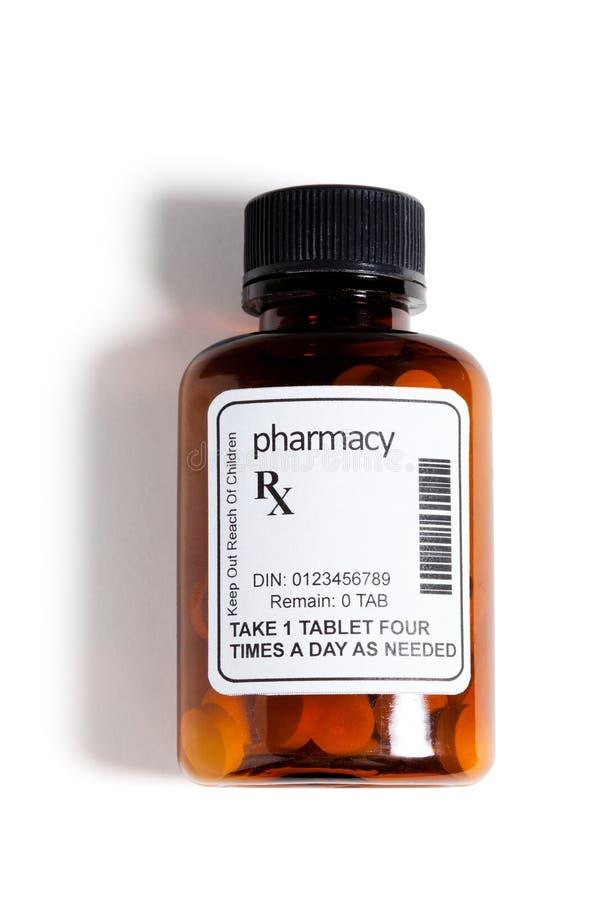 Garrafa de comprimido foto de stock