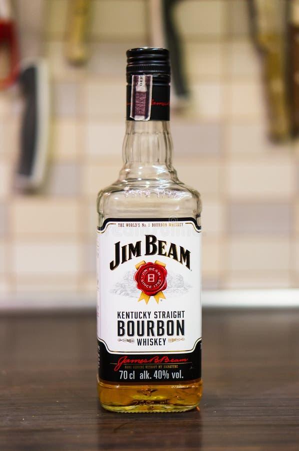 Garrafa de Jim Beam imagens de stock