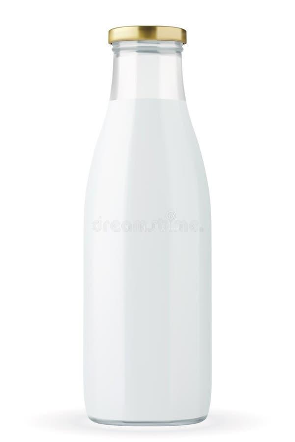 Garrafa de leite ilustração stock
