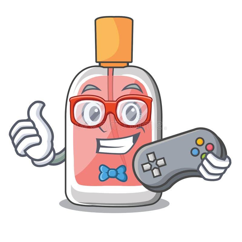 Garrafa de perfume do Gamer na tabela do caráter ilustração do vetor