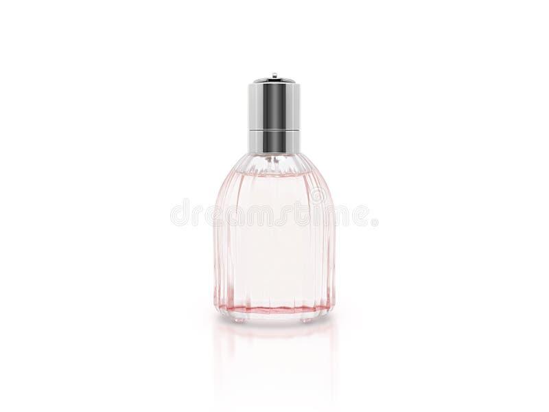 Garrafa de vidro do parfume vazio fotografia de stock