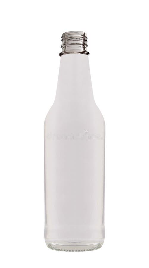 Garrafa de vidro gorda isolada no branco fotografia de stock
