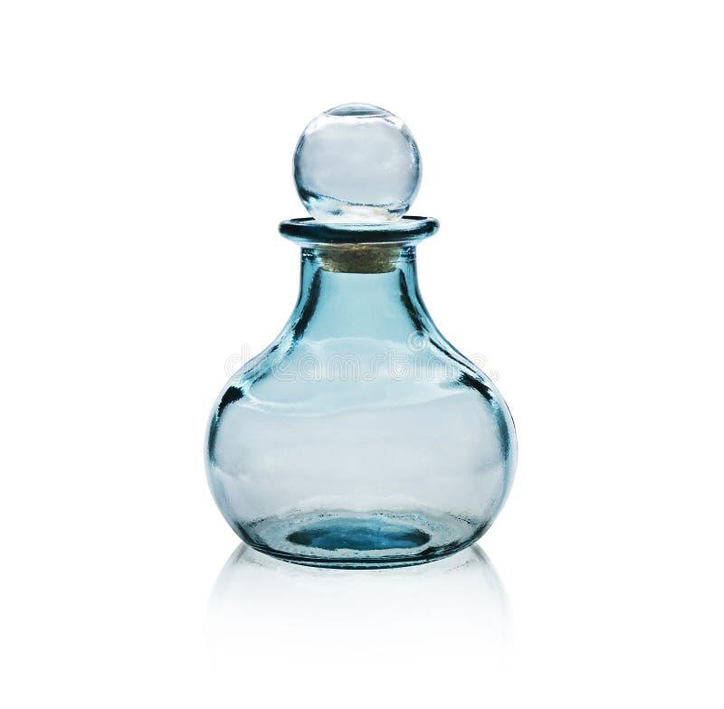 Garrafa de vidro vazia. imagem de stock