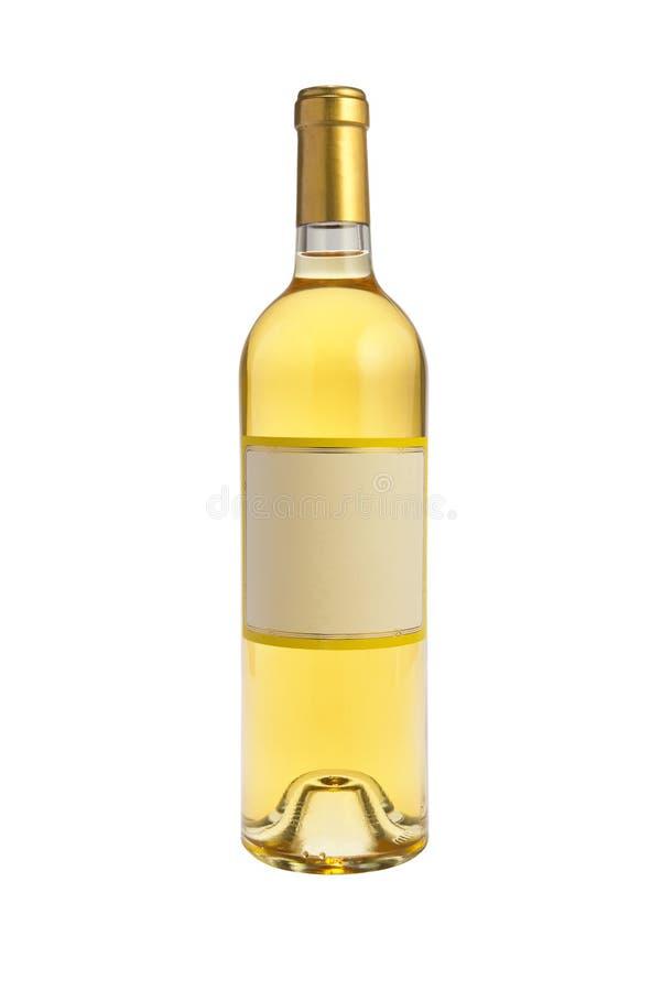 Garrafa de vinho branco imagens de stock
