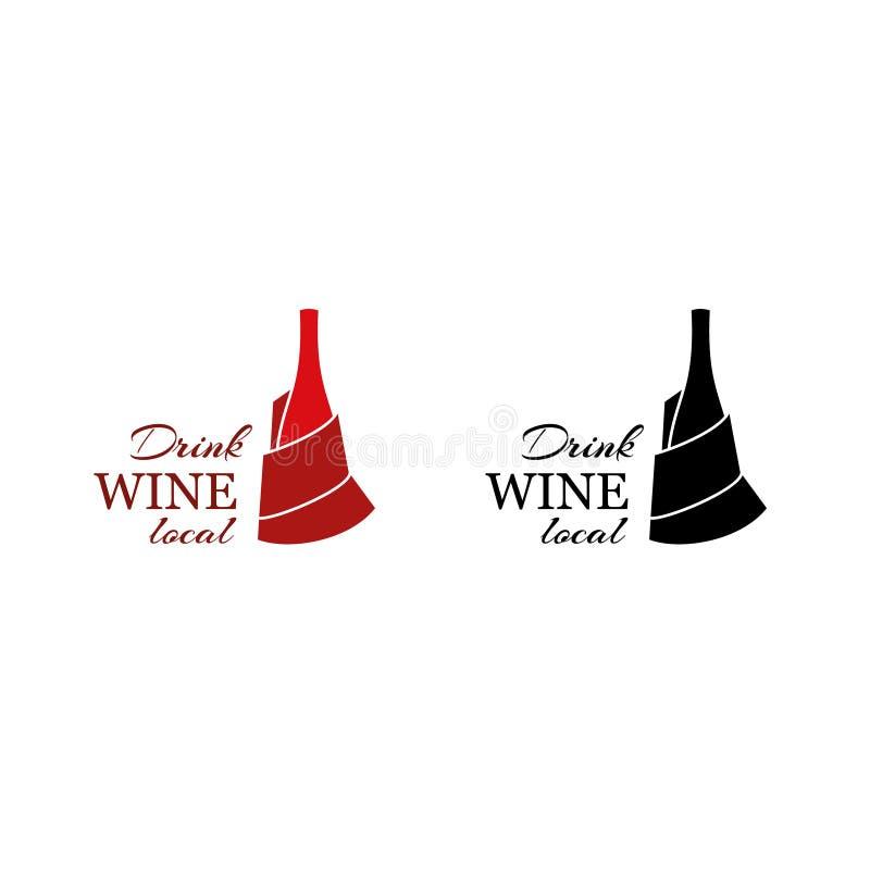 Garrafa de vinho Logo Template imagem de stock