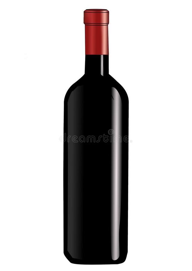 Garrafa de vinho três fotos de stock royalty free