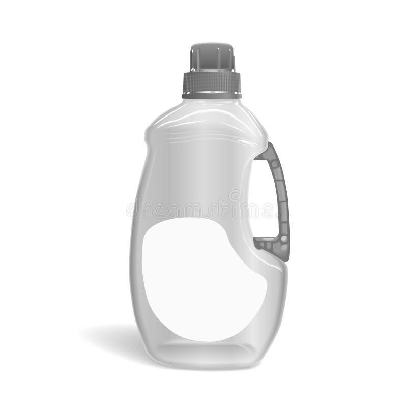 Garrafa detergente vazia ilustração royalty free