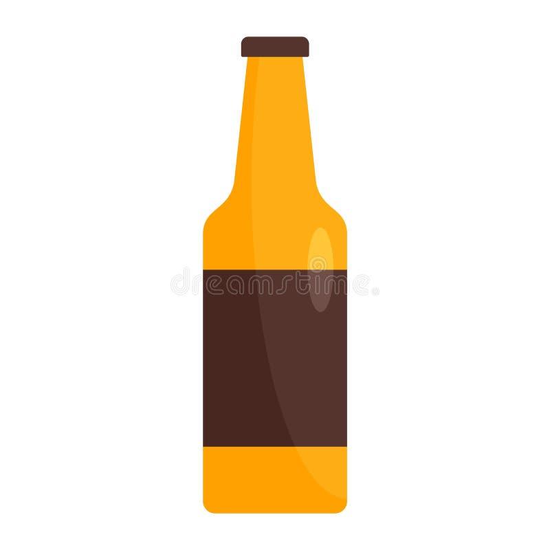Garrafa do ícone alemão da cerveja, estilo liso ilustração stock
