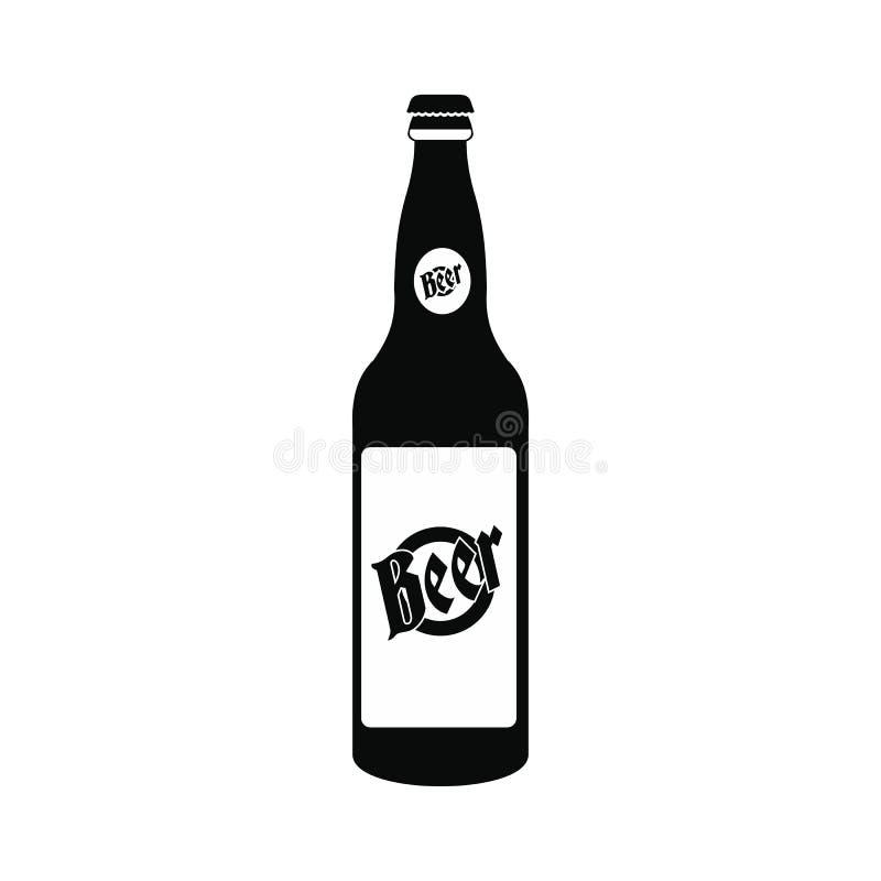 Garrafa do ícone da cerveja ilustração royalty free
