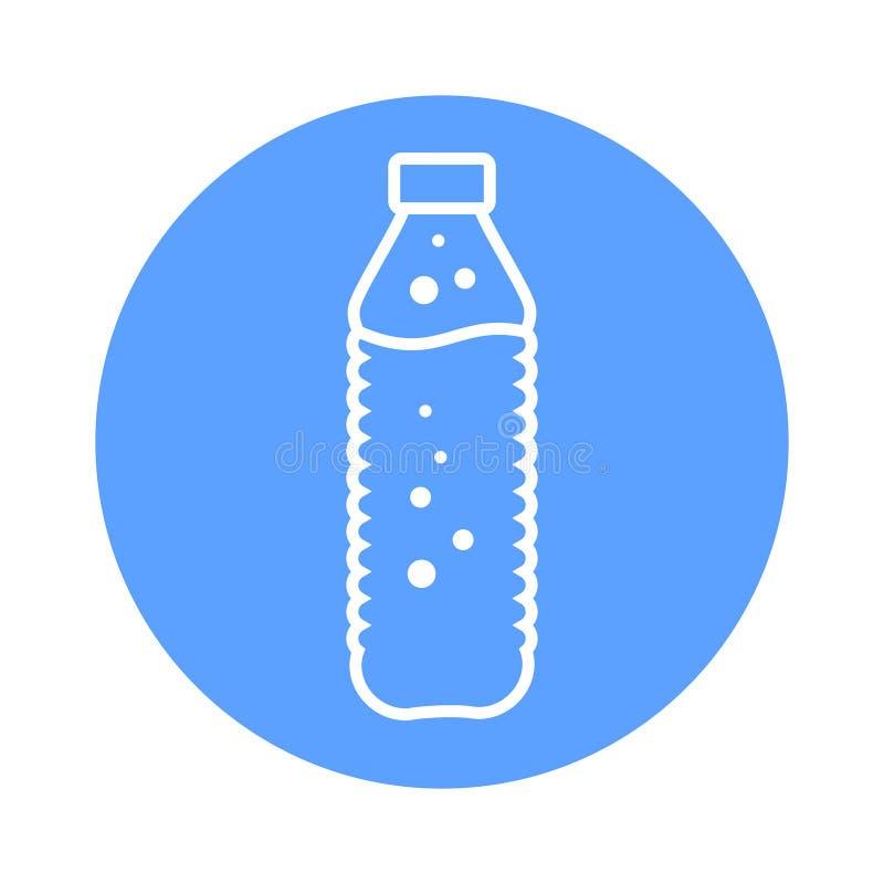 Garrafa do ícone do vetor da água no estilo simples liso ilustração royalty free