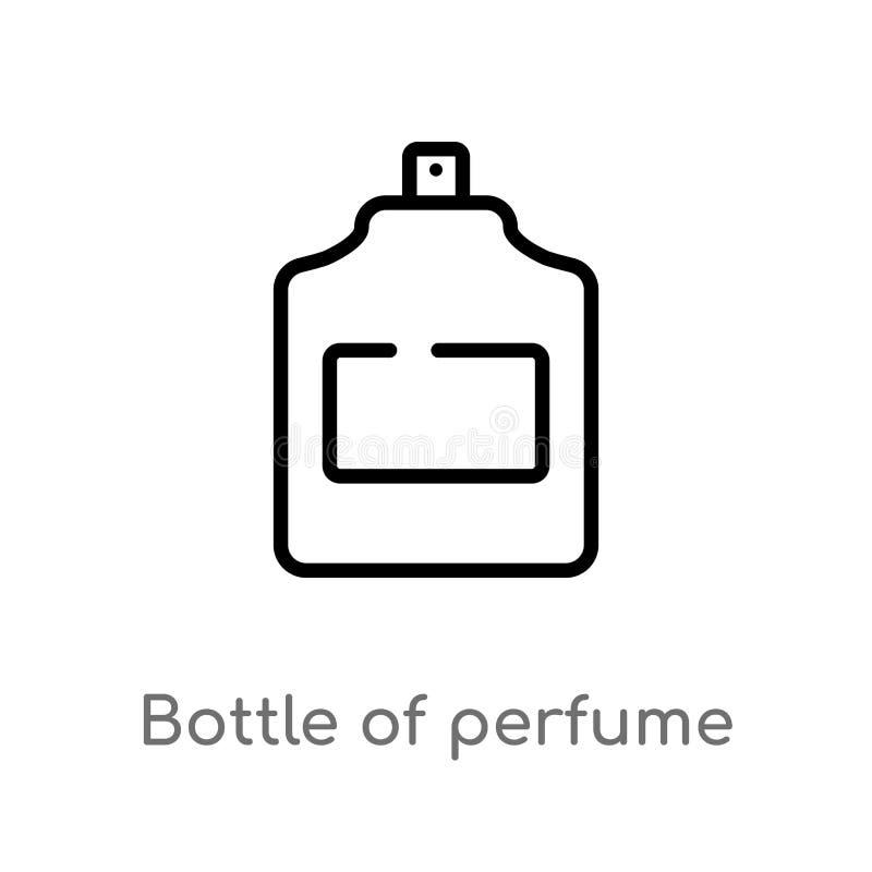 garrafa do esboço do ícone do vetor do perfume r Curso editável do vetor ilustração stock