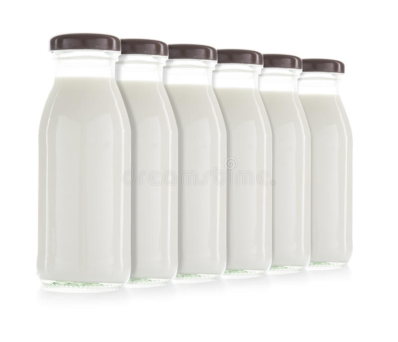 Garrafa do leite isolada fotos de stock