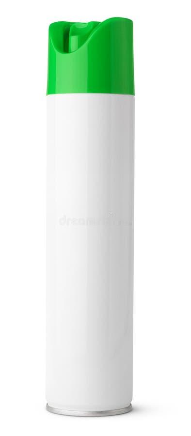 A garrafa do metal do pulverizador de aerossol do refrogerador de ar pode isolado no branco fotos de stock royalty free