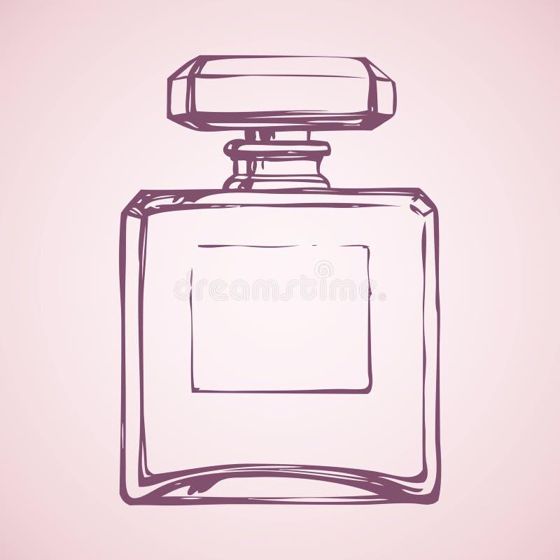 Garrafa do perfume Desenho do vetor ilustração do vetor