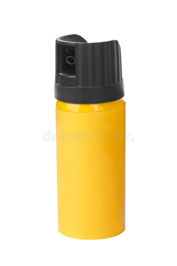 Garrafa do spray de pimenta fotografia de stock