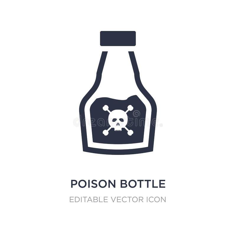 garrafa do veneno com um ícone do crânio no fundo branco Ilustração simples do elemento do conceito médico ilustração do vetor