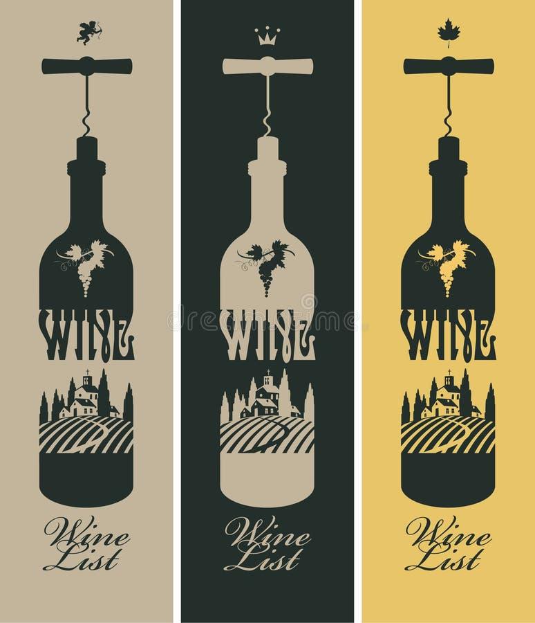 Garrafa do vinho ilustração royalty free