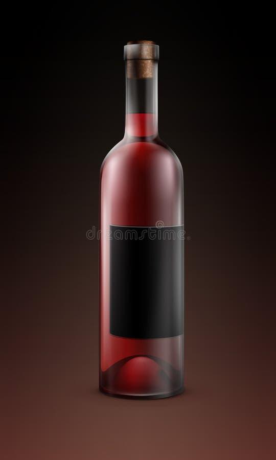 Garrafa do vinho ilustração stock
