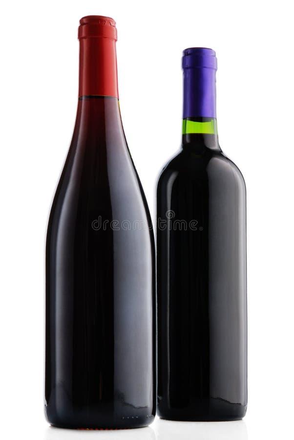 Garrafa dois do vinho foto de stock royalty free