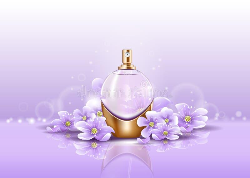 Garrafa dos produtos vidreiros do pulverizador ou do perfume para o aroma ilustração stock