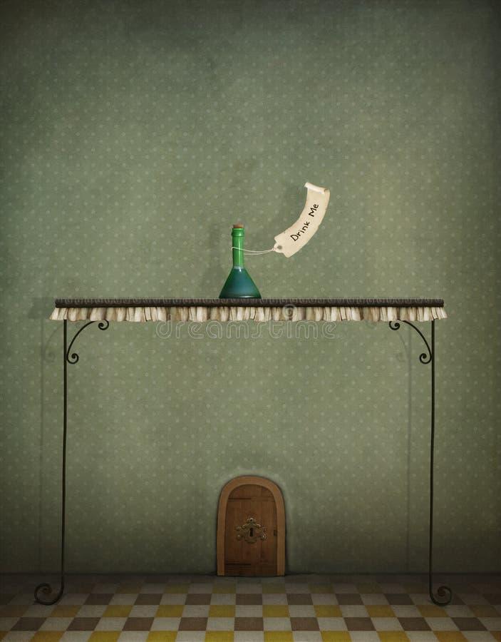 Garrafa e porta pequena ilustração royalty free