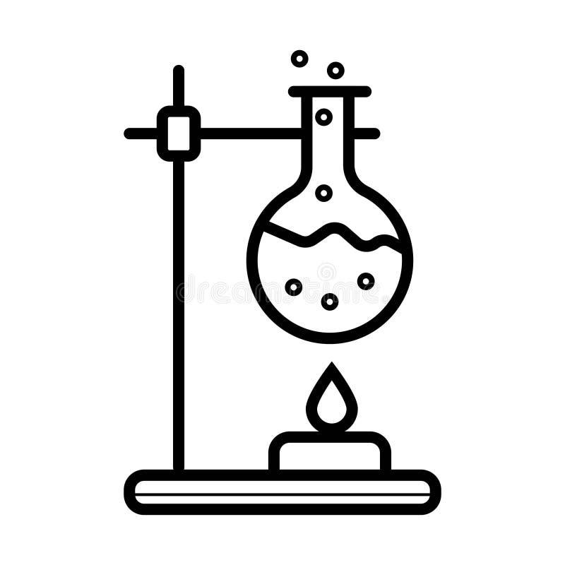 Garrafa no ícone do fogo Elemento da ciência para o conceito móvel e nós ilustração do vetor