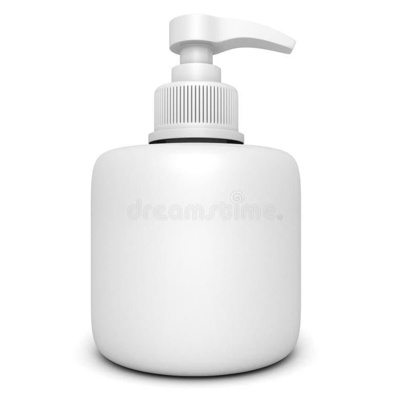 Garrafa do plástico da bomba do distribuidor do gel, da espuma ou do sabão líquido ilustração royalty free