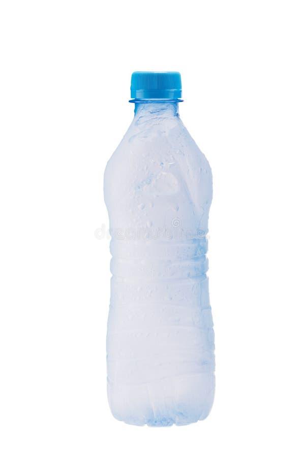 Garrafa plástica de Misted com água congelada imagem de stock