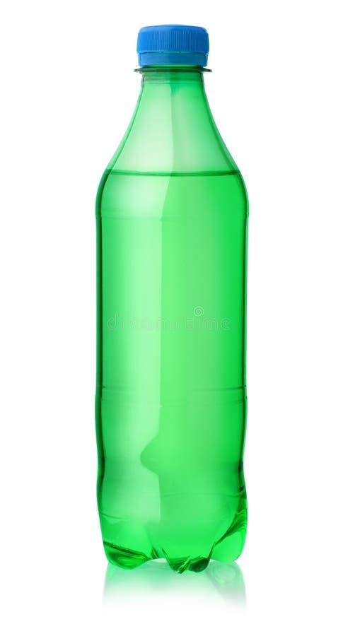 Garrafa plástica do refresco do limão fotografia de stock